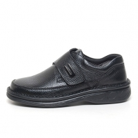 Men's leather velcro strap comfy casual shoes