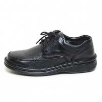 Men's leather eyelet lace up comfy casual shoes