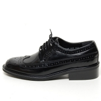 Men's wing tip longwing brogues lace up oxford big size shoes