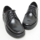 Men's leather u line stitch eyelet lace up platform high heel casual shoes