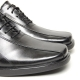 Men's leather square toe increase height oxford elevator shoes