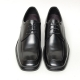 Men's leather square toe hidden insoe increase height oxford elevator shoes
