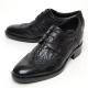 Men's wing tip brogues wrinkle open lacing increase height oxford elevator shoes