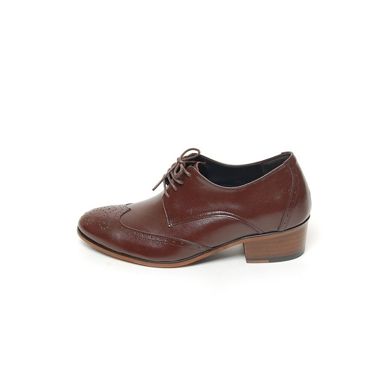 s wing tip brogues open lacing increase height high