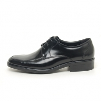 Men's square toe leather open lacing increase height oxford elevator shoes