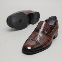 Men's cap toe wrinkle loafer shoes