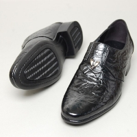 Men's round toe wrinkle leather loafers