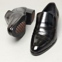 Men's wrinkle side stitch loafer shoes