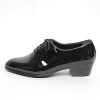 Men's pointed toe glossy lace up high heel oxfords shoes