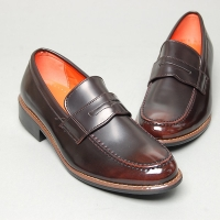 Men's u line stitch penny loafer shoes