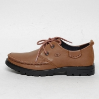Men's u line stitch eyelet lace up back tap shoes