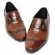 Men's wing tip two tone leather wrinkle loafer shoes