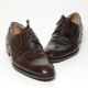 Men's Leather Stitch Open Lacing Oxford Shoes