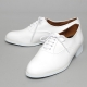 Men's Plain Toe Glossy White Oxford Shoes