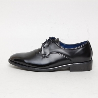 Men's Round Toe Wrinkle Open Lacing Synthetic Leather Oxford Shoes