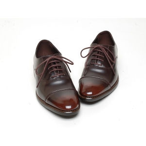 Men S Cap Toe Closed Lacing Synthetic Leather Oxford Shoes
