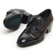 Men's Cap Toe Two Tone Leather Wrinkle Open Lacing High Heel Oxford Shoes