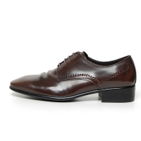 Men's Wrinkle Leather Brogue Open Lacing Oxford Shoes