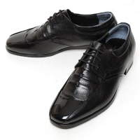 Men's Square Toe Wrinkle Leather Lace Up Oxford Shoes