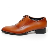 Men's Round Toe Brogue Closed Lacing Oxford Shoes