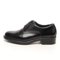 Men's Plain Top Wrinkle Leather Open Lacing Oxford Shoes