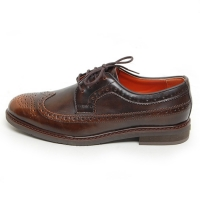 Men's Wing Tip Longwing Brogue Synthetic  Leather Open Lacing Oxford Shoes