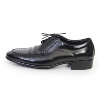 Men's Apron Toe Wrinkle Leather Open Lacing Oxford Shoes