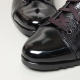 Men's Cap toe Wrinkle Leather Eyelet Lace Up Side Zip Back Tap Ankle Boots