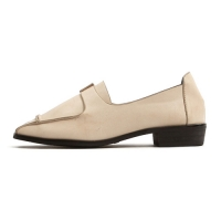 Women's Square Toe Synthetic Leather Loafer Shoes