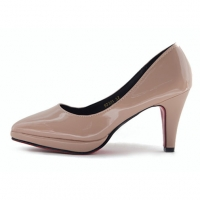 Women's Pointed Toe Glossy Platform High Heels Pumps