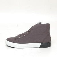 Men's Fabric Eyelet Lace Up Side Zip Hidden Insole Increase Height High Tops Elevator Shoes