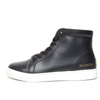 Men's Round Toe Leather Lace Up Side Zip Hidden Insole Increase Height High Tops Elevator Shoes