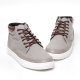 Men's Two Tone Eyelet Lace Up Side Zip High Tops Sneaker Shoes