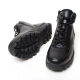 Men's Synthetic Leather Eyelet Lace Up Side Zip Back Tap Combst Sole High Tops Sneaker Shoes