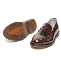 Men's Apron Toe Synthetic  Leather Penny Loafer Shoes