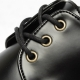 Men's Apron Toe Synthetic Leather Eyelet Open Lacing Combat Sole Shoes