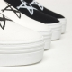 Women's White Thick Platform Elastic Band Fabric Star Sneakers Shoes