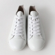 Women's Cap Toe Black White Silver Gold Dark Silver Leather Lace Up Back Tap Sneakers Shoes