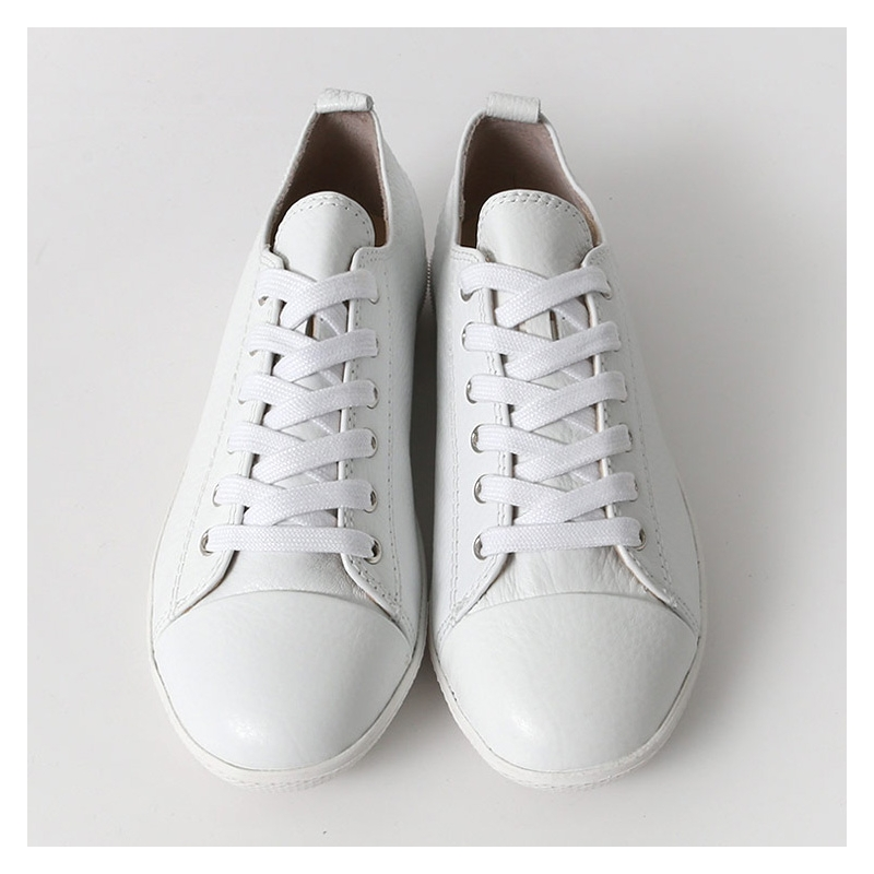 Women S Cap Toe Leather Lace Up Back Tap Sneakers Shoes
