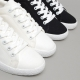 Women's White Platform Eyelet Lace Up Fabric Sneakers Shoes