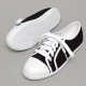 Women's White Cap Toe Line Eyelet Lace Up Sneakers Shoes