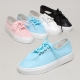 Women's White Platform Wrinkle Synthetic Leather Lace Up Sneakers Shoes