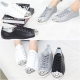 Women's Leather Front Jewel Eyelet Lace Up Back Tap Sneakers Shoes