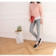 Women's white platform punching synthetic leather elastic band back tap sneakers