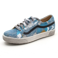 Vintage painted oiled fashion sneakers W070819