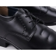 """Men's brown synthetic leather opened lace dress 2.75"""" elevator shoes"""