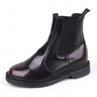 "Men's 2.4"" UP synthetic Leather chelsea boots increase insole rubber sole  brown made in KOREA US 7.5-US 10.5"