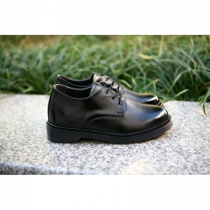 Black increase height lace up shoes