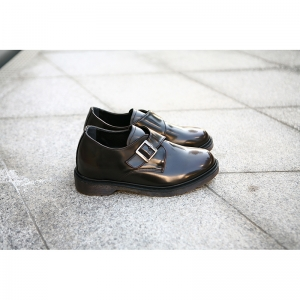 velcro monk strap increase height shoes brown color