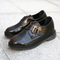 Monk strap increase height shoes Brown